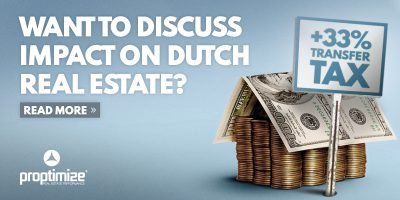 Proposed 33% Transfer tax increase on Real Estate in the Netherlands per 1 January 2021